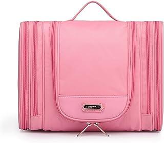 Hanging Travel Toiletry Kit Bag Cosmetic Makeup Organizers For Men & Women Large Pink