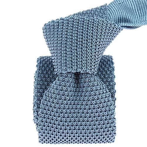 Tony & Paul - Cravate Tricot Tevere Bleu, Soie