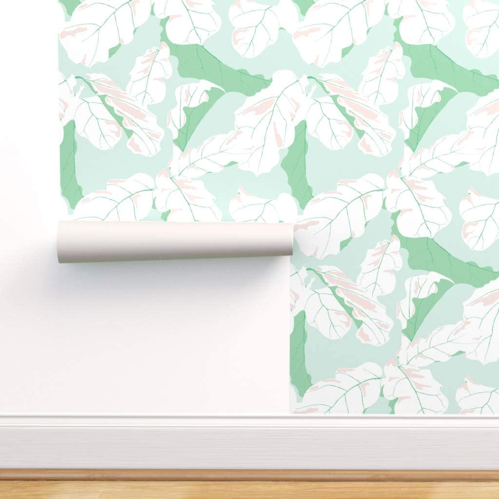 Max 41% OFF Removable Water-Activated Wallpaper - Lea Banana Manufacturer direct delivery Tropical Leaf