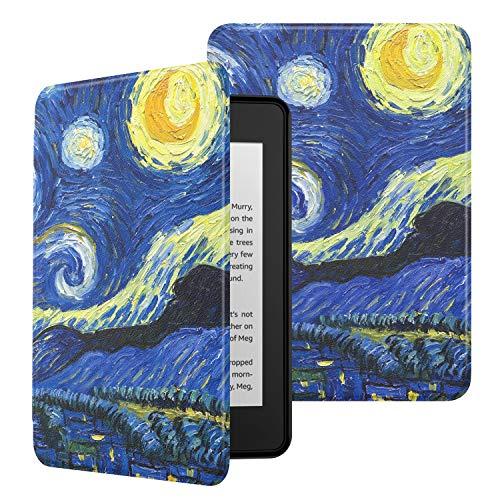 MoKo Kindle Paperwhite E-reader (10a Generazione, 2018 Rilascio) Case, Ultra Sottile Leggera Custodia con Funzione Auto Sveglia/Sonno per Amazon Kindle Paperwhite 2018 Tablet - Notte stellata
