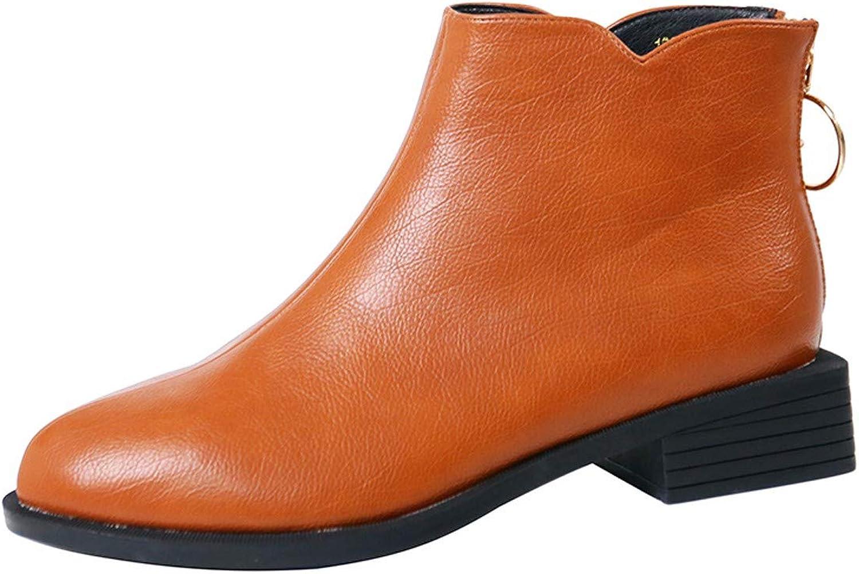 KOKQSX-Bene Testa rossoonda Zip Breve Stivali Martin Gli Stivali Retro Tacco Tacco Basso 3cm