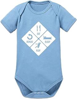 Shirtcity Eat Sleep Play Repeat Handball Baby Strampler by