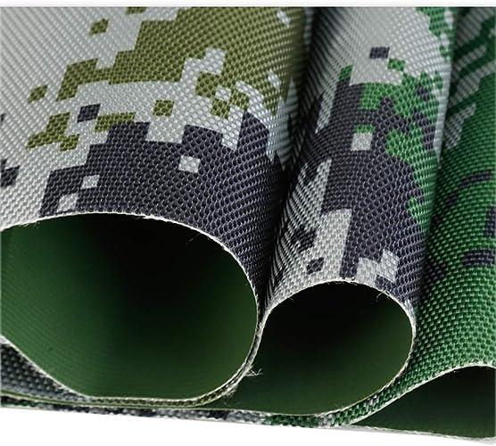 CBD Bache imperméable lourde de PVC de camouflage, couverture de piscine de bache de jardin extérieur, camping, couverture végétale de jardinage 500G   M2 de tente d'animal familier,1,5  3M,