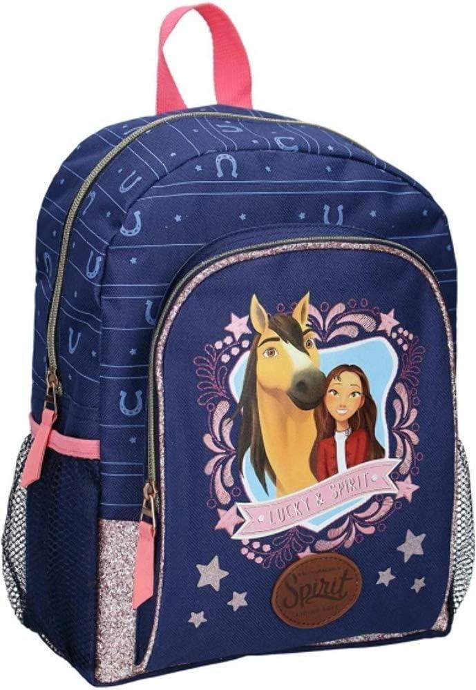 Spirit Children's Rucksack Wild and Free - Blue with Glitter