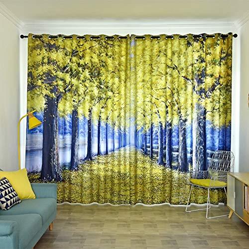 INTER FAST cortina de alquiler habitación dormitorio idílico sala de estar dormitorio parabrisas aislamiento acústico paño de sombra -3.5 x 2.7 m, natural, 3.5m*2.7m