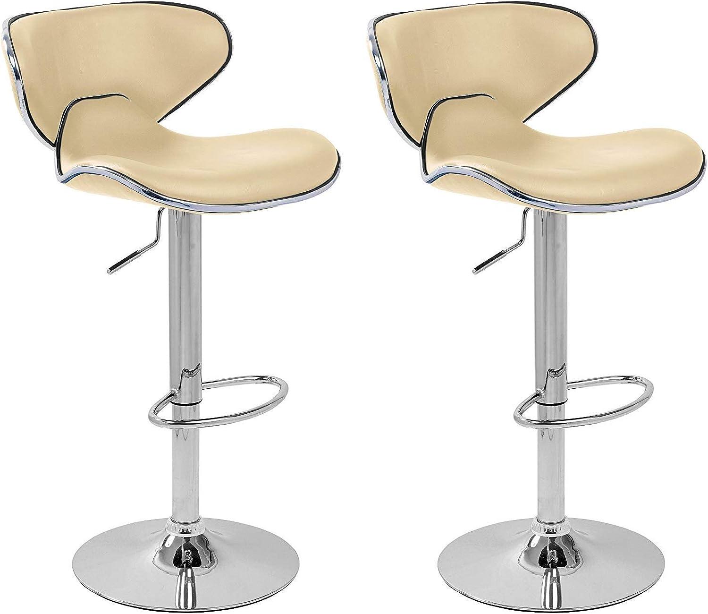 QIDI 2 X BAR Stool Leather Kitchen Breakfast BAR STOOLS BARSTOOLS (color   A)