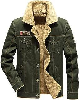 Sherpa Lined Denim Cashmere Jacket for Men Jeep Windbreaker Outdoor