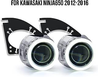 KT Tailor-Made HID Projector Kit HP44 for Kawasaki Ninja 650 2012-2016 White Angel Eye