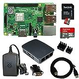Raspberry Pi 3 Model B+ (2018) mit 1,4 GHz CPU offizielles Gehäuse in schwarz / grau offizielles Netzteil in schwarz SanDisk Ultra SD-Karte (98 MB/s) mit aktueller Software (noobs 2.8) vorinstalliert 2m HDMI-Kabel, HDMI-DVI Adapter, InnoConnect Kühlk...