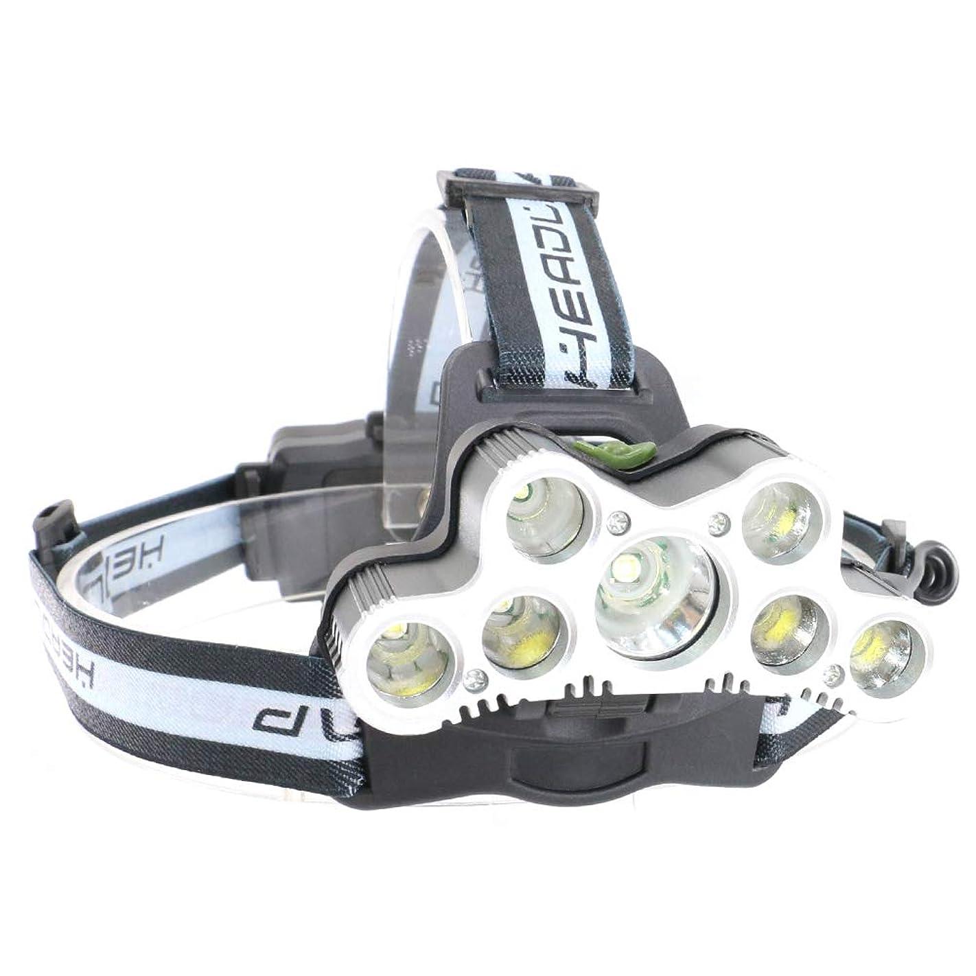 晴れ報告書建設Ameelie LED ヘッドライト 超高輝度 防水 充電式 led ヘッドランプ 7灯式 6つの照明モード 角度調整可 9000ルーメン SOS機能 登山 夜釣り アウトドア作業?