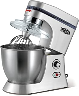 KWS M-B7 Commercial 620W Stand Mixer,7 Quarts Silver Heavy-Duty for Restaurant/Bakery/Tea Shop/Coffee Shop