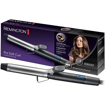 Remington Pro Soft Curl CI6525 - Rizador de Pelo, Cerámica y Titanio, Pinza de Pelo de 25 mm, 10 Ajustes, Negro: Amazon.es: Salud y cuidado personal