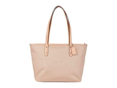 COACH Horse and Carriage Jacquard City Zip Tote