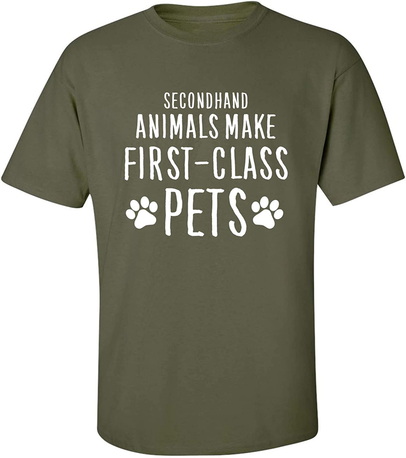 Secondhand Animals Adult T-Shirt in Military Green - XXXX-Large