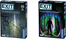 Exit: The Abandoned Cabin   Exit: The Game - A Kosmos Game   Kennerspiel Des Jahres Winner, Ages 12+ & Exit: The Haunted Roller Coaster   Exit: The Game - A Kosmos Game from Thames & Kosmos, Ages 10+