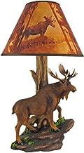 North American Bull Moose Table Lamp w/Shade