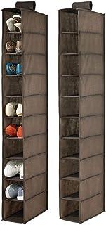 mDesign étagère suspendue en polypropylène (lot de 2) – rangement suspendu pour chaussures avec 10 poches – étagère à susp...