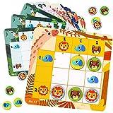 Nene Toys - Sudoku Puzzle-Spiel Rätsel für Kinder - Magnetisches Reise-Spiel Kids Anfänger ab 3 Jahre - Buntes Design 30 Sudoku-Muster Tiere - Fördert Logisches Denken, Gedächtnis, Koordination