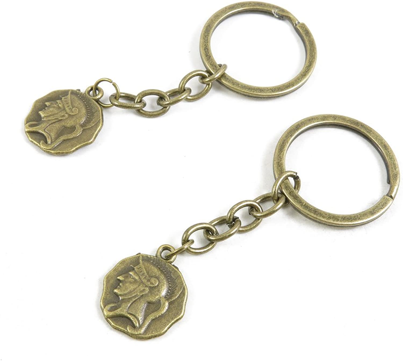 170 Pieces Fashion Jewelry Keyring Keychain Door Car Key Tag Ring Chain Supplier Supply Wholesale Bulk Lots J8UB6 Roman Warrior Tag Signs