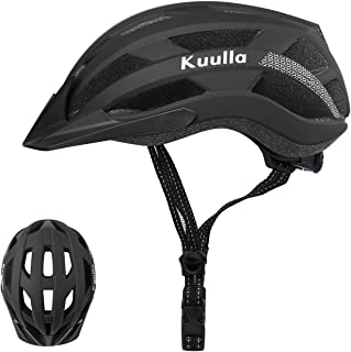 Kuulla Adult Bike Helmet Adjustable Bicycle Helmet Lightweight Mountain Road Cycling Helmet with Replacement Pads for Wome...
