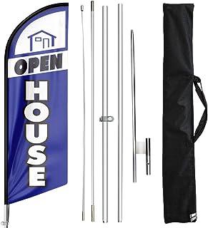 FSFLAG Open House Feather Flag - 11 Feet Feather Flag...