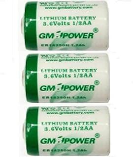 Macバックアップ用 1/2AA リチウム乾電池 【3個セット】 3.6V内蔵電池 CBT36V同等品