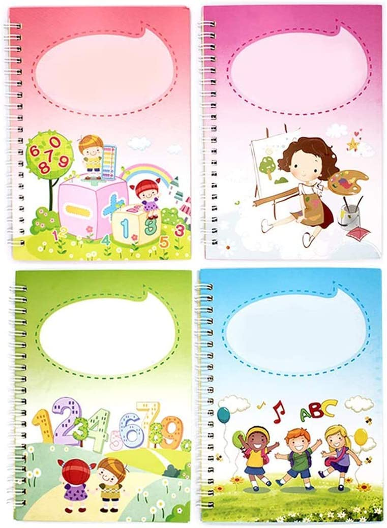 4Pcs Reusable Calligraphy Copybook Purchase Workbook Ranking TOP3 Handwriting Kids for