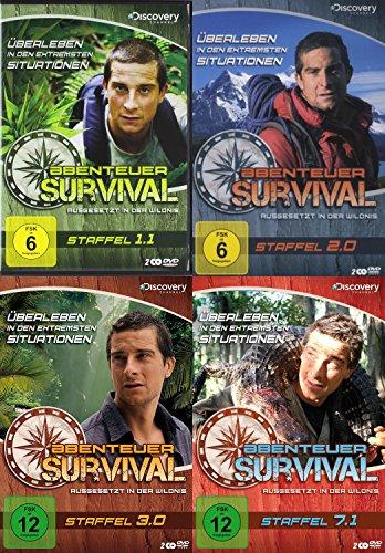 Ausgesetzt in der Wildnis - ABENTEUER SURVIVAL - 27 Episoden - Staffel 1.1 + 2.0 + 3.0 + 7.1 Bear Grylls 8 DVD Collection