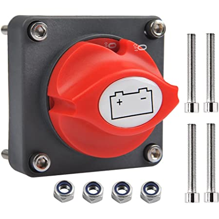 Ofnmy Battery Isolator Switch Main Switch 12v 24v Battery Isolator Switch 300a On Off Battery Switch For Boat Car Auto