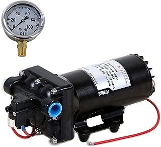 Shurflo 5059-1310-D011 Automatic-Demand 12V Diaphragm Pump with 100 PSI Pressure Gauge (Bundle, 2 Items)