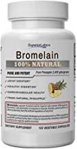 Superior Labs – Best Bromelain Non GMO Natural Supplement – Non-Synthetic – 2,400 gdu/Gram – Supports Healthy Digestion & ...