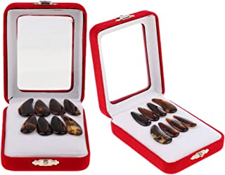 Baosity 16 Pieces Guzheng Nail Chinese Zither Finger Picks with Carry Case