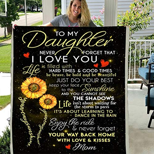Read About Maylian Personalized Custom Sunflower to My Daughter Never Forget That I Love You Fleece ...