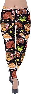 PattyCandy Womens Autumn Thanksgiving Comfort Fit Straight Leg Smart Business Pants/Soft Velvet Leggings, XS-5XL