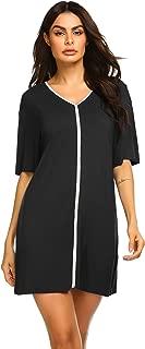 Women's Sleepwear V Neck Nightshirt Cotton Nightgown Half Sleeve Loungewear S-XXL