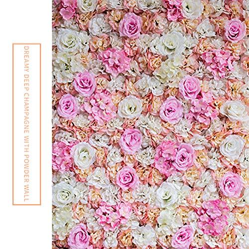 TTIK Kunstmatige Bloem Wandpanelen - 60x40cm Trellis Privacy Hedge Bloemenachtergrond Hedge Home Decor Outdoor Natuurlijke Schermen Decoratie