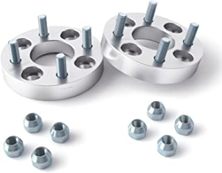 1 inch (25mm) Wheel Spacers 4x130 to 4x100 Adapters (Changes Bolt Pattern) Metric 12x1.5 Studs Nuts - for 1968-1979 VW Beetle Bug, 1970-1976 Porsche 914 Volkswagen - 2pcs