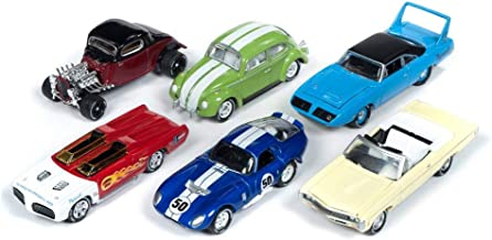 Johnny Lightning Classic Gold 2019 Release 1 Set A Diecast Car Set - Box of 6 Assorted 1/64 Scale Diecast Model Cars