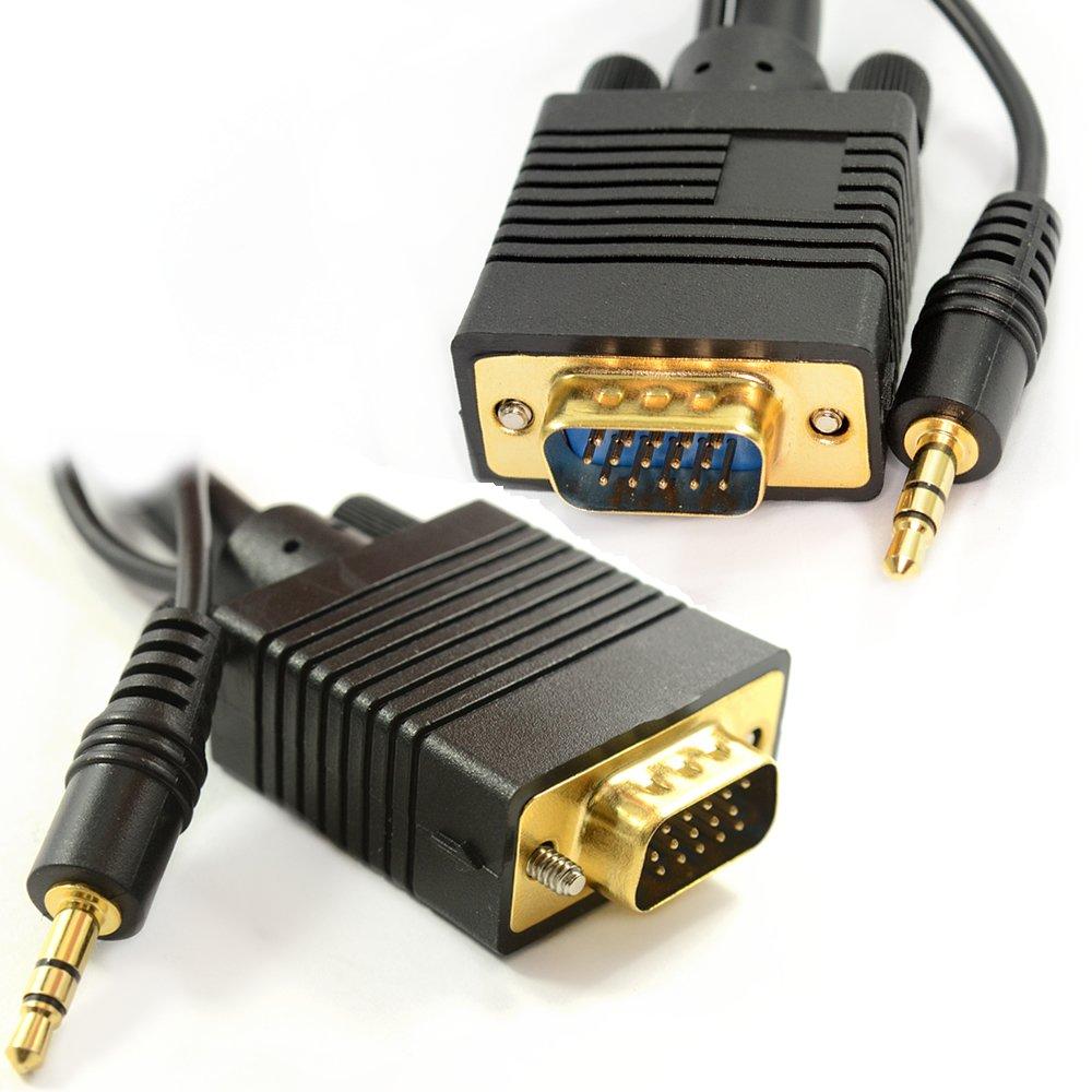 PC Ordenador Portátil a HD LCD LED Plasma TV 15 Pines VGA con Conector Jack Audio Cable 5 m [5 metros/5m]: Amazon.es: Informática