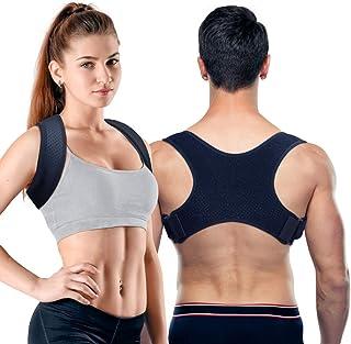 猫背矯正ベルト PORTHOLIC 背筋サポート 男女兼用 通気性抜群 脱着簡単 姿勢改善/歪み予防/肩こり解消 姿勢