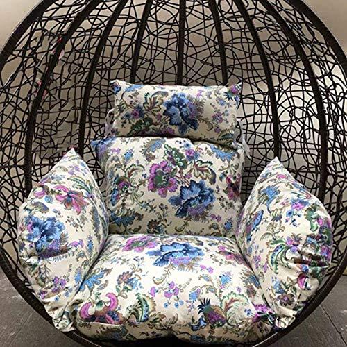 ZXL Schommel-zitkussen, hangend ei-hangmat, stoel, kussen zonder standaard, schommelkussen, dikke nest, met kussens