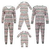 Conjunto de pijama familiar a juego con diseño de árbol de Navidad con ciervos de árbol de Navidad, camiseta de manga larga y ropa de descanso inferior, 0, 3-6 meses