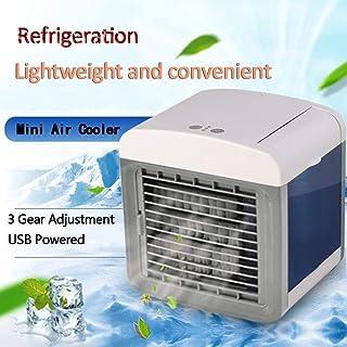LEORTKS Aire Acondicionado, Portatil Climatizador Evaporativo, 3 Velocidades Mini Ventilador Humidificador Purificador de Aire, a Prueba de Fugas, Nuevo Papel de Filtro Aire Refrigerador (Blanco)