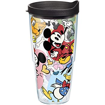 Tervis 1267964 Disney-Tangled Insulated Tumbler with Wrap and Turquoise Lid 10 oz Wavy Clear