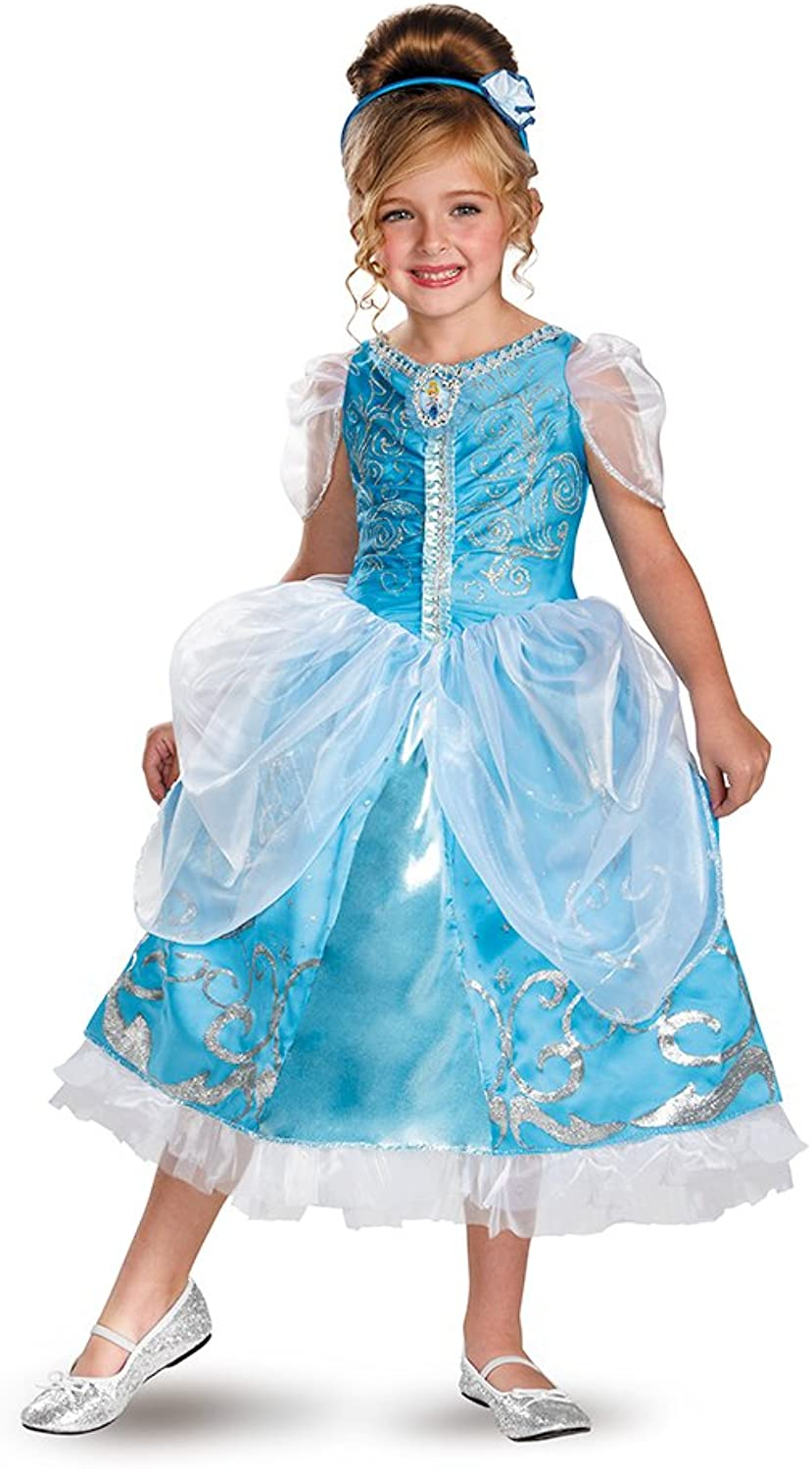 Disguise Costumes Disguise Disney'S Cinderella Sparkle Deluxe Girls Costume 3T4T One color