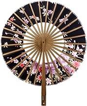 Plegable Círculo Abanico de Estilo Japonés con Dibujos Flores Sakura