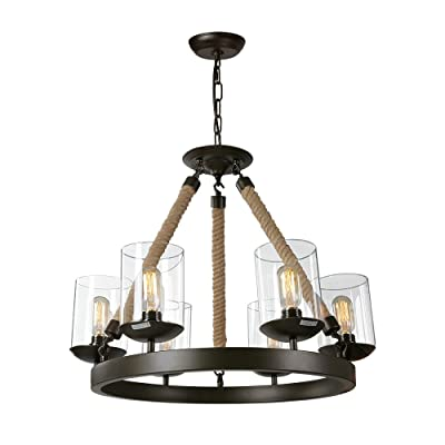 LNC A02992 Pendant 6-Light Chandeliers with E26...