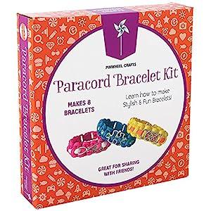 Paracord Charm Bracelet Making Set: Pinwheel Crafts DIY Bracelets Kit for Girls, Teens & Children – Make Your Own…