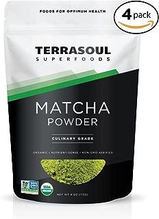 Terrasoul Superfoods Organic Matcha Green Tea (Culinary Grade), 16 ounces