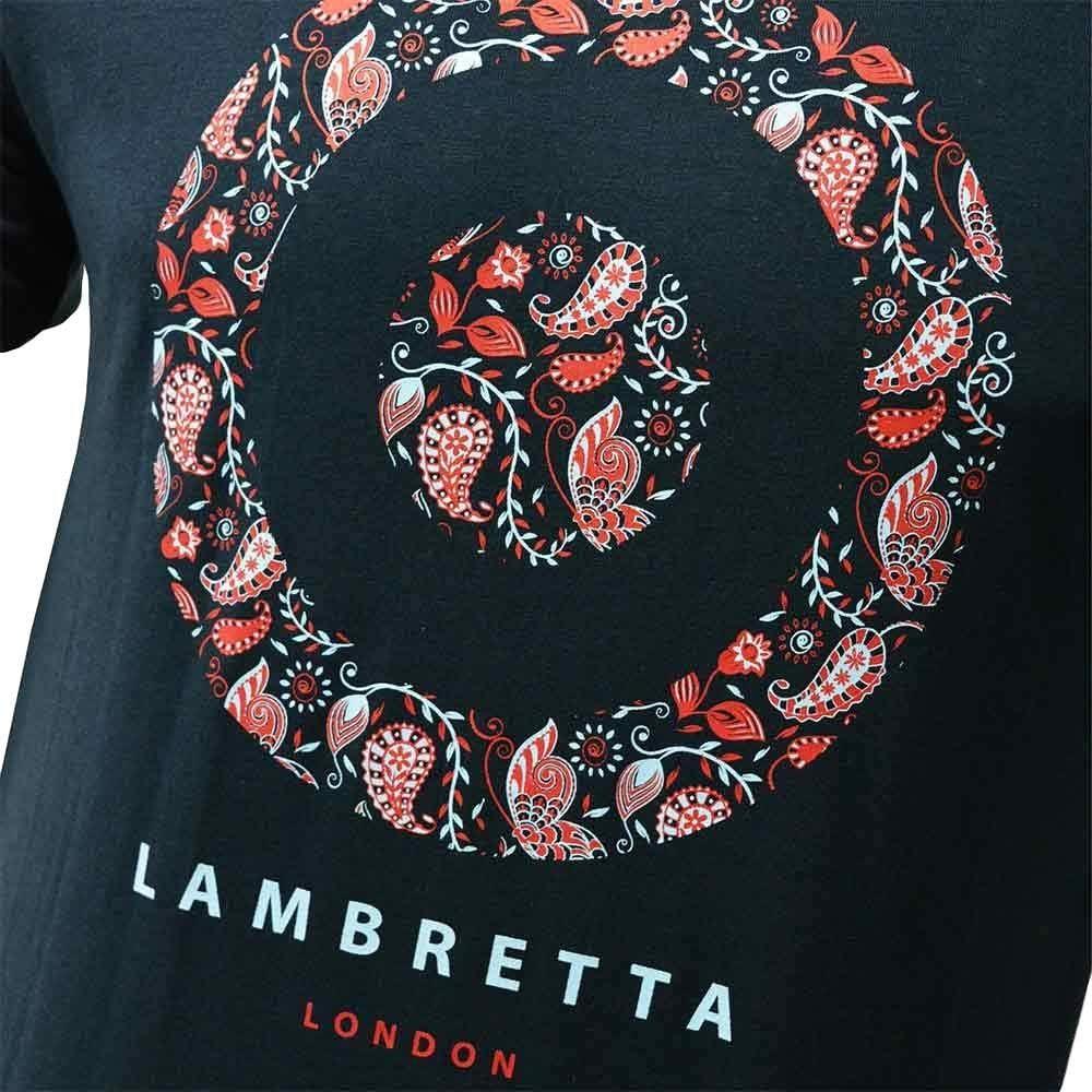 Lambretta Mens Paisley Target Cotton Short Sleeve Casual T-Shirt Top Tee